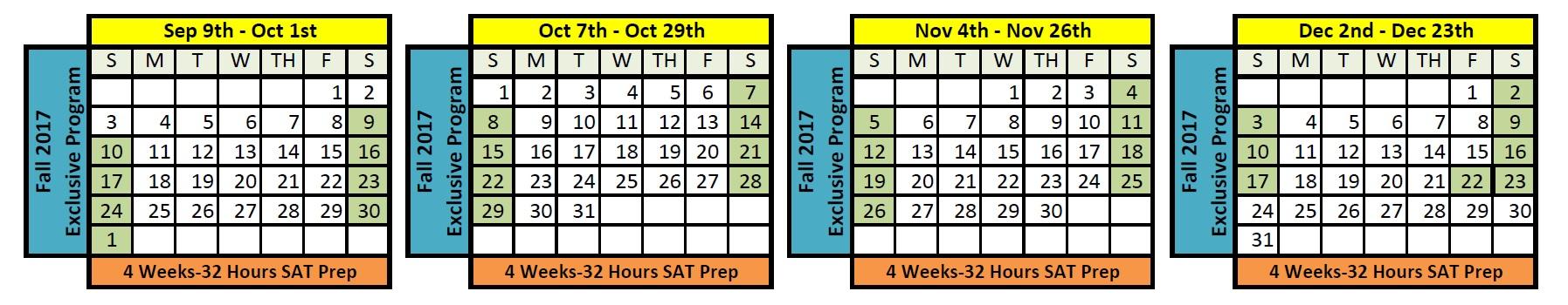 SAT Fall Programs